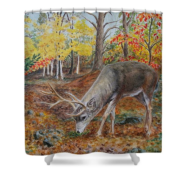 The Buck Stops Here Shower Curtain
