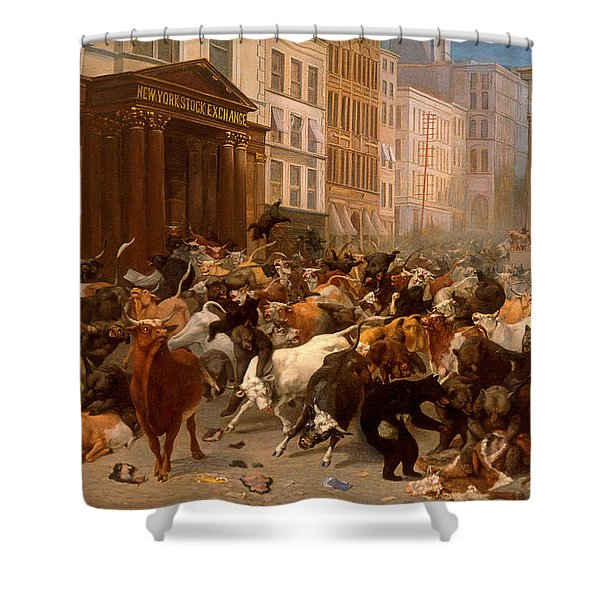 The Bulls And Bears In The Market Shower Curtain