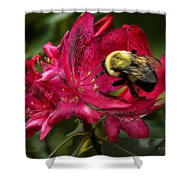 The Bumble Bee Shower Curtain