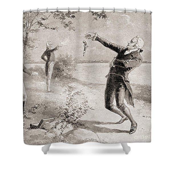 The Burr Hamilton Duel Shower Curtain
