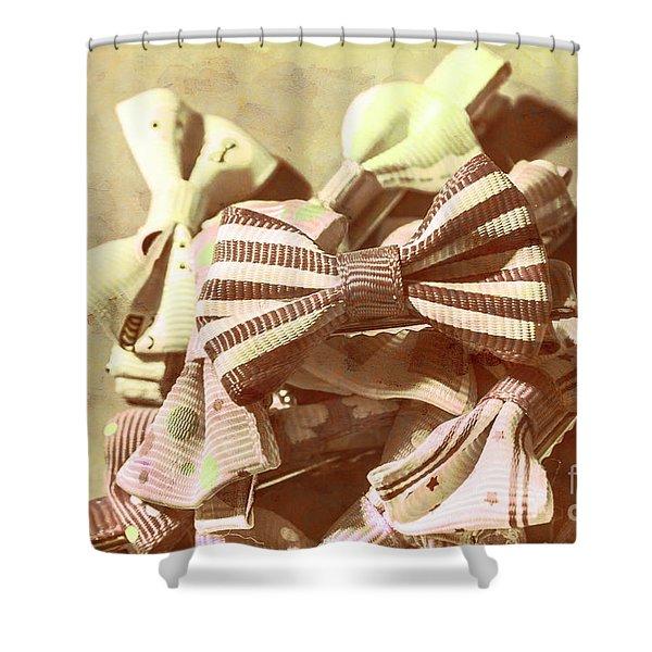 The Bygone Bowtie Club Shower Curtain