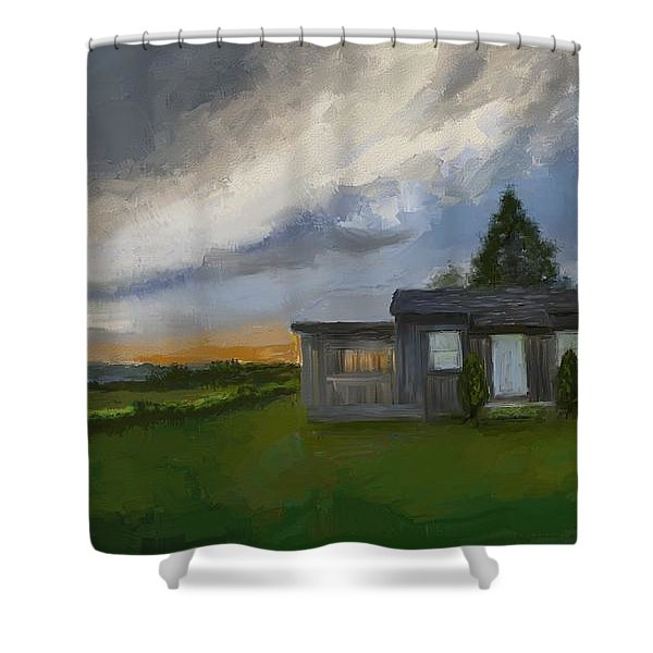 The Cabin On The Hill Shower Curtain