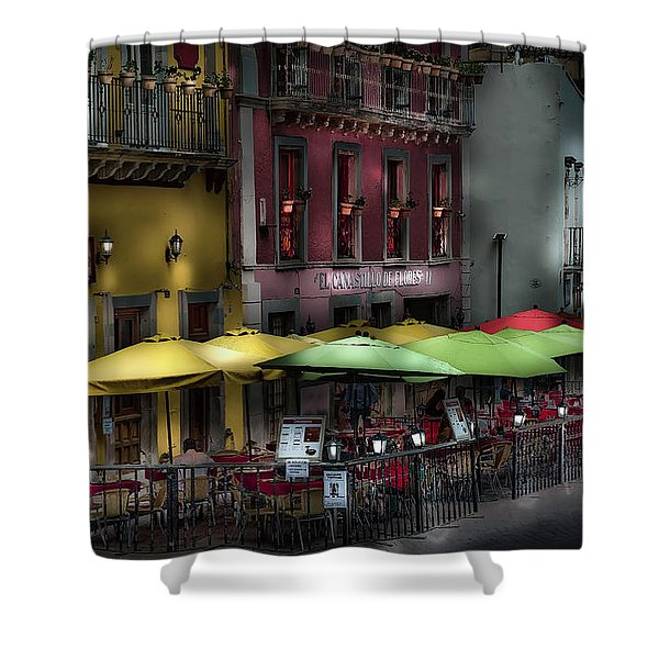 The Cafe At Night Shower Curtain