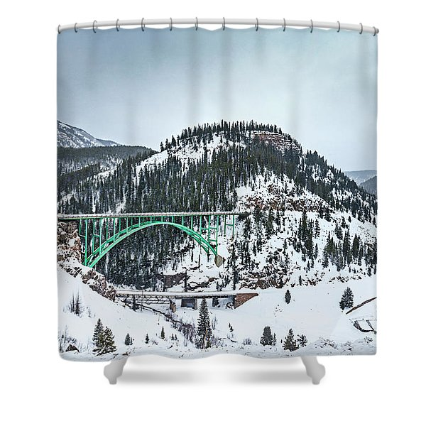 The Call Of The Rockies Shower Curtain