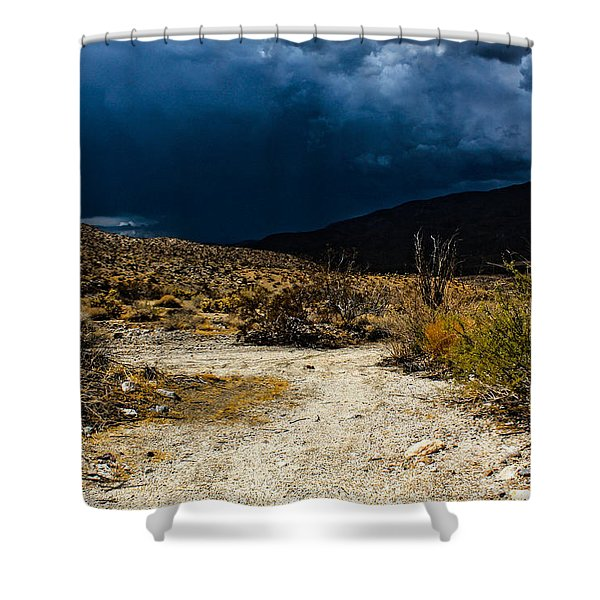Shower Curtain featuring the photograph The Calm Before by Break The Silhouette
