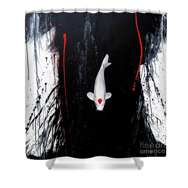 Shower Curtain featuring the painting The Calm by Sandi Baker