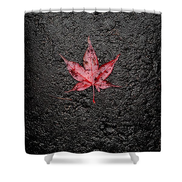 The Canadian Flag Of The Streets Shower Curtain