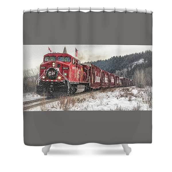 The Canadian Pacific Holiday Train Shower Curtain
