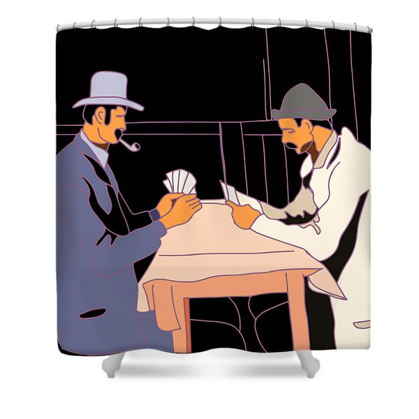 The Card Players Shower Curtain