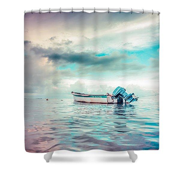 The Caribbean Morning Shower Curtain