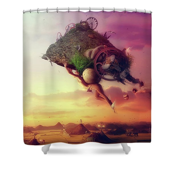The Carnival Is Over Shower Curtain