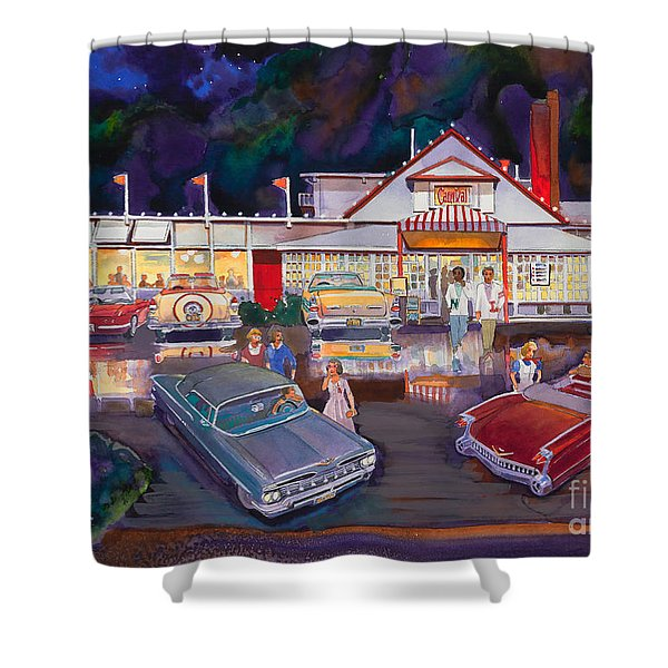 The Carnival Portland Oregon Shower Curtain