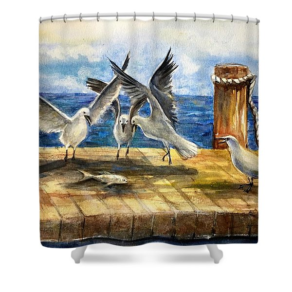 The Catch Is Mine Shower Curtain