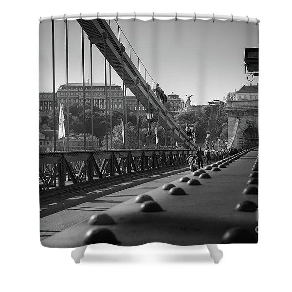 The Chain Bridge, Danube Budapest Shower Curtain
