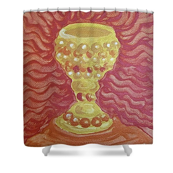 The Chalice Or Holy Grail Shower Curtain