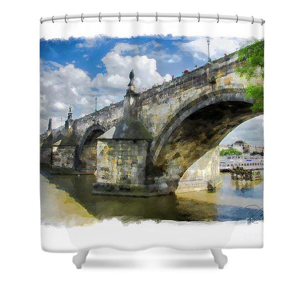 The Charles Bridge - Prague Shower Curtain