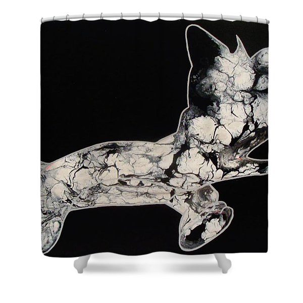 The Chase Bw Shower Curtain