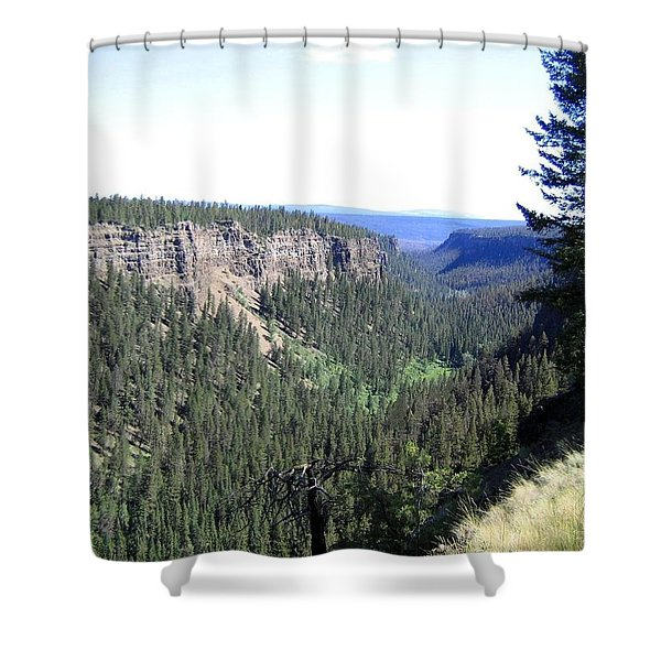 The Chasm Shower Curtain