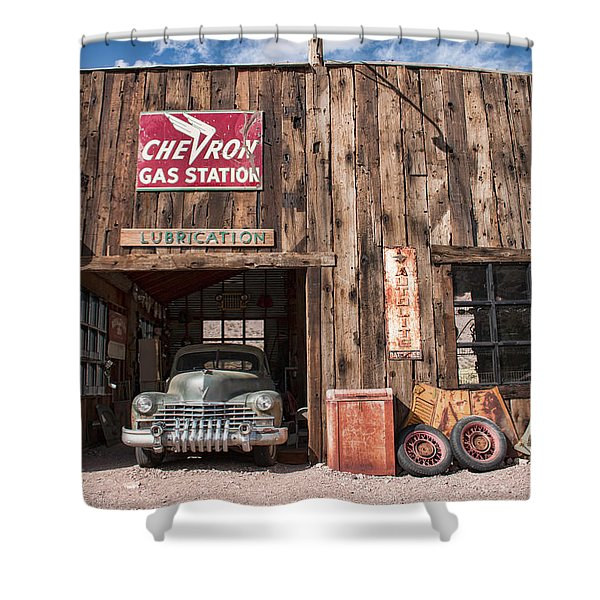 The Chevron Station  Shower Curtain