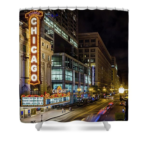 Illinois - The Chicago Theater Shower Curtain