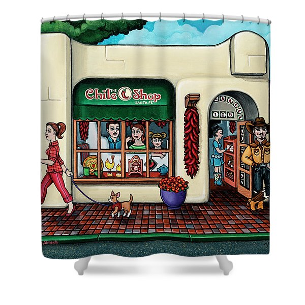 The Chile Shop Santa Fe Shower Curtain
