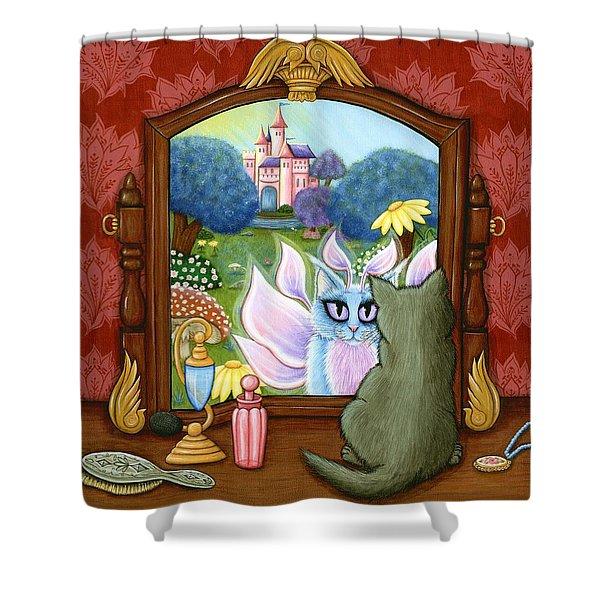 The Chimera Vanity - Fantasy World Shower Curtain