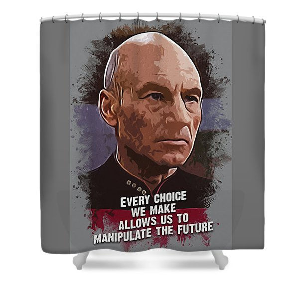 The Choice - Picard Shower Curtain