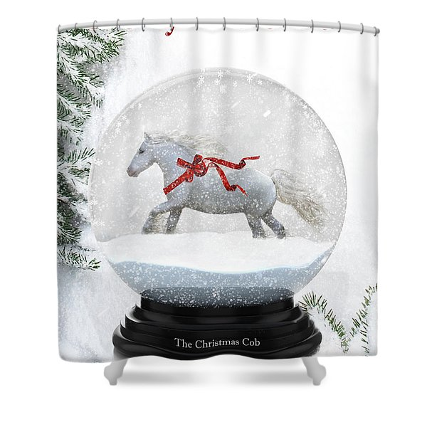 The Christmas Cob Shower Curtain