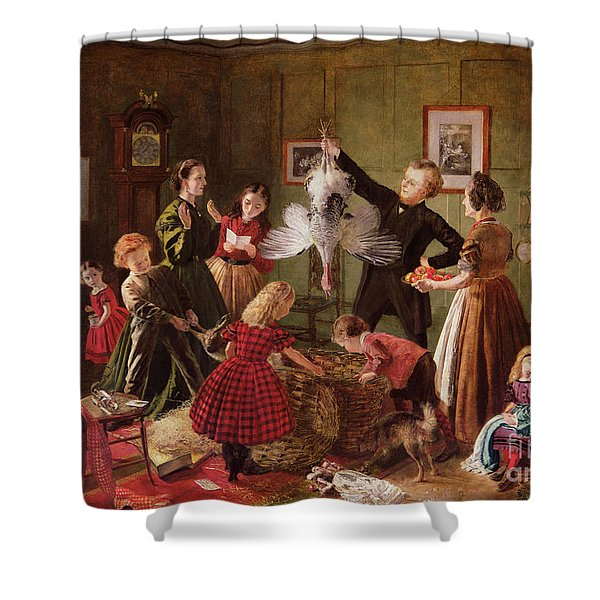 The Christmas Hamper Shower Curtain