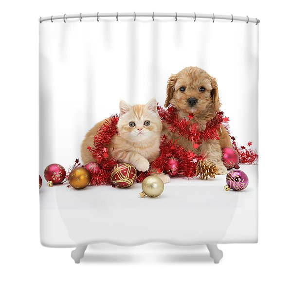 The Christmas Tree Destroyers Shower Curtain