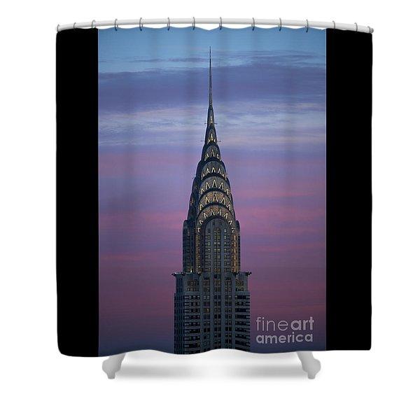 The Chrysler Building At Dusk Shower Curtain