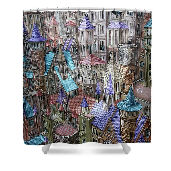 The City Of Crow Shower Curtain