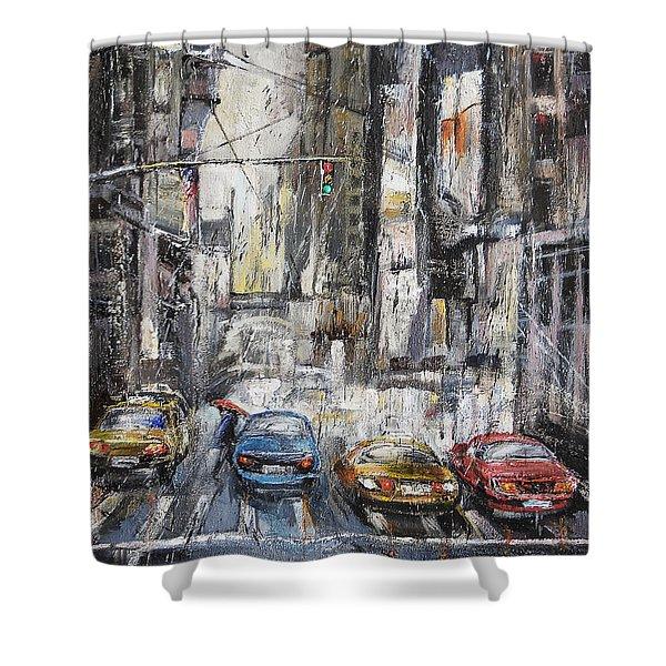 The City Rhythm Shower Curtain