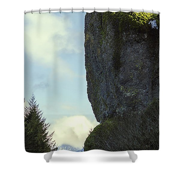 The Cliff Signed Shower Curtain