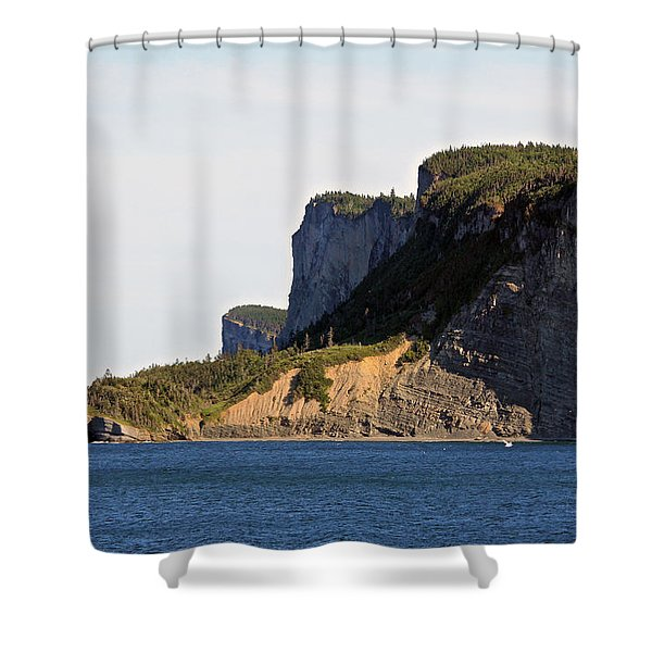 The Cliffs Of Forillon  Shower Curtain