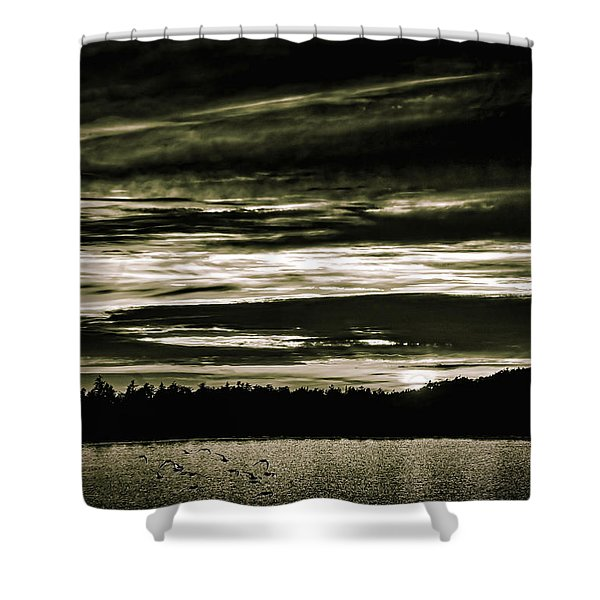 The Coast At Night Shower Curtain
