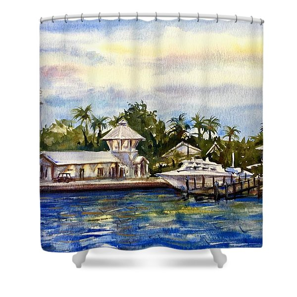 The Coast Of Nassau Shower Curtain