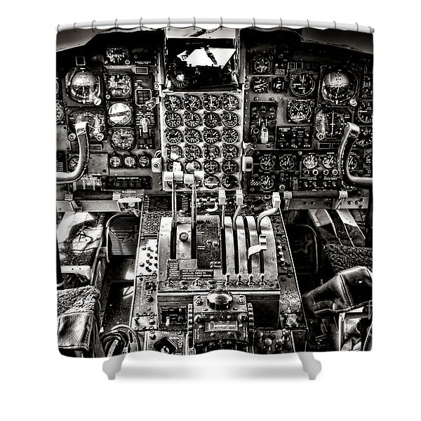 The Cockpit Shower Curtain
