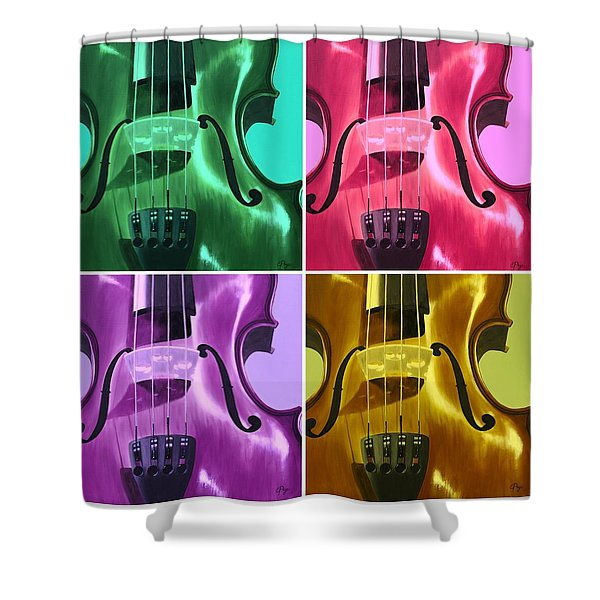The Colors Of Sound Shower Curtain