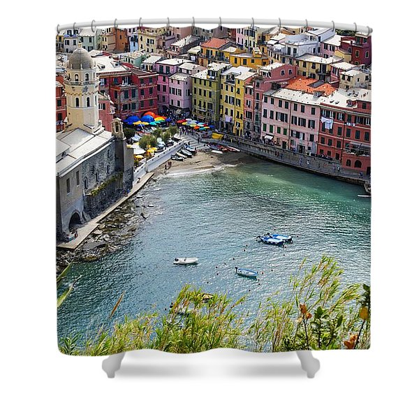 The Colors Of Vernazza Shower Curtain