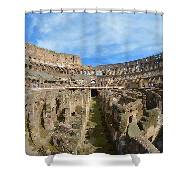 The Colosseum Shower Curtain