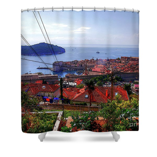 The Colourful City Of Dubrovnik Shower Curtain