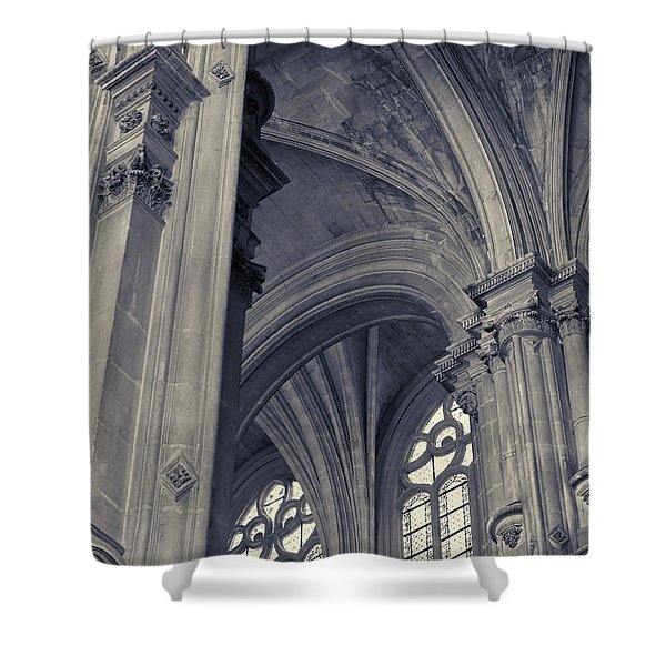 The Columns Of Saint-eustache, Paris, France. Shower Curtain
