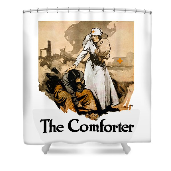 The Comforter - World War One Nurse Shower Curtain