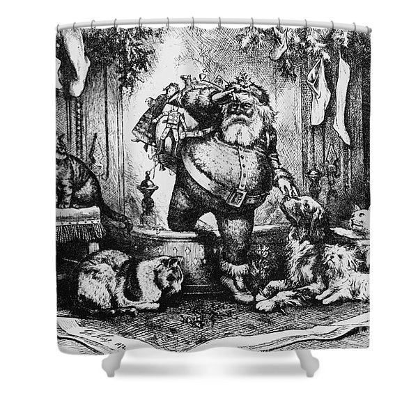 The Coming Of Santa Claus Shower Curtain