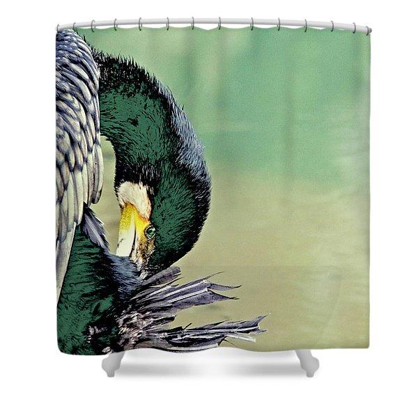 The Cormorant Shower Curtain