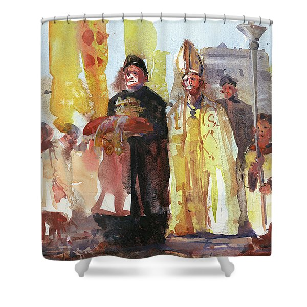 The Coronation Shower Curtain