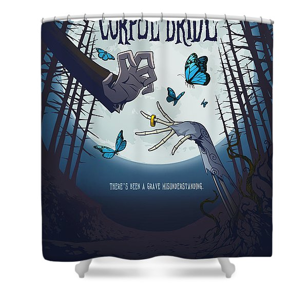 The Corpse Bride Alternative Poster Shower Curtain