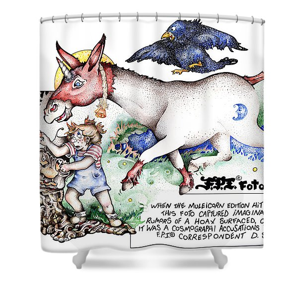 Real Fake News The Cosmograph Foto Shower Curtain
