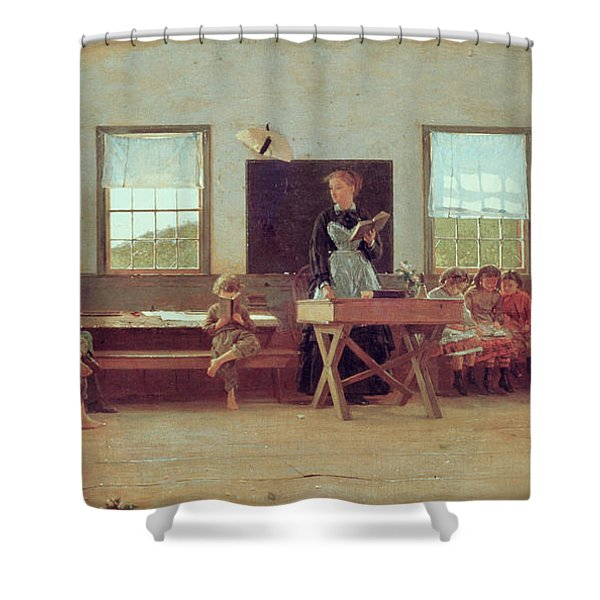 The Country School Shower Curtain